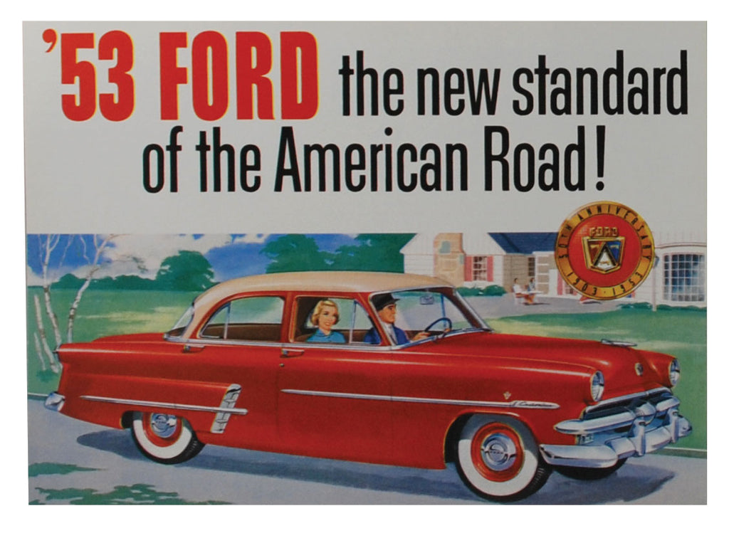 1953 CAR 50TH ANNIVRSRY SALES BROCHURE