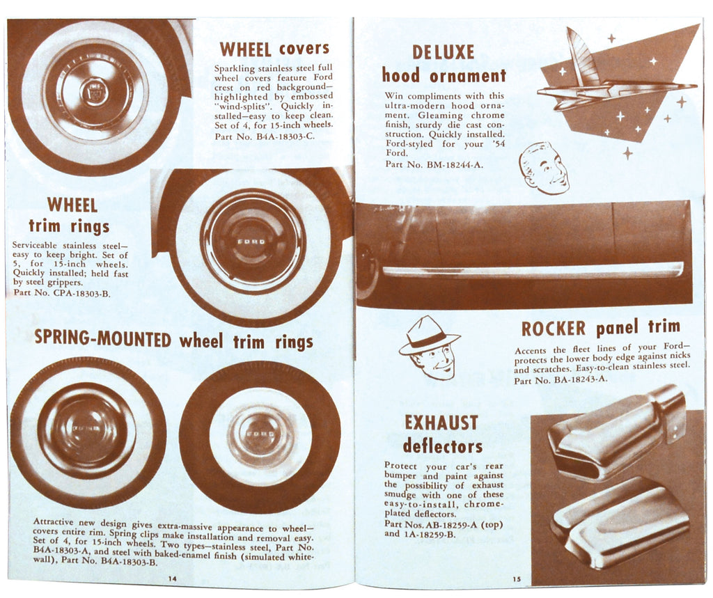1954 CAR COLOR ACCESSORY BROCHURE
