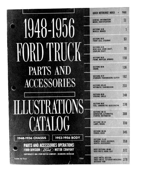 1948-56 PICKUP CHASSIS & BODY PARTS MANUAL