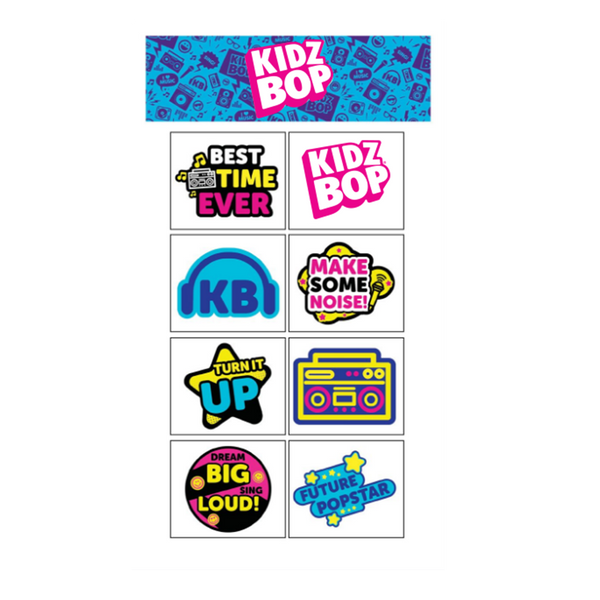 Kidz Bop Full Color Temporary Tattoo Set 2-Pack