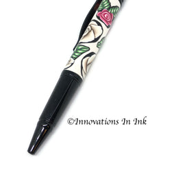 Roses Are Red Polymer Clay Custom Ballpoint Pen