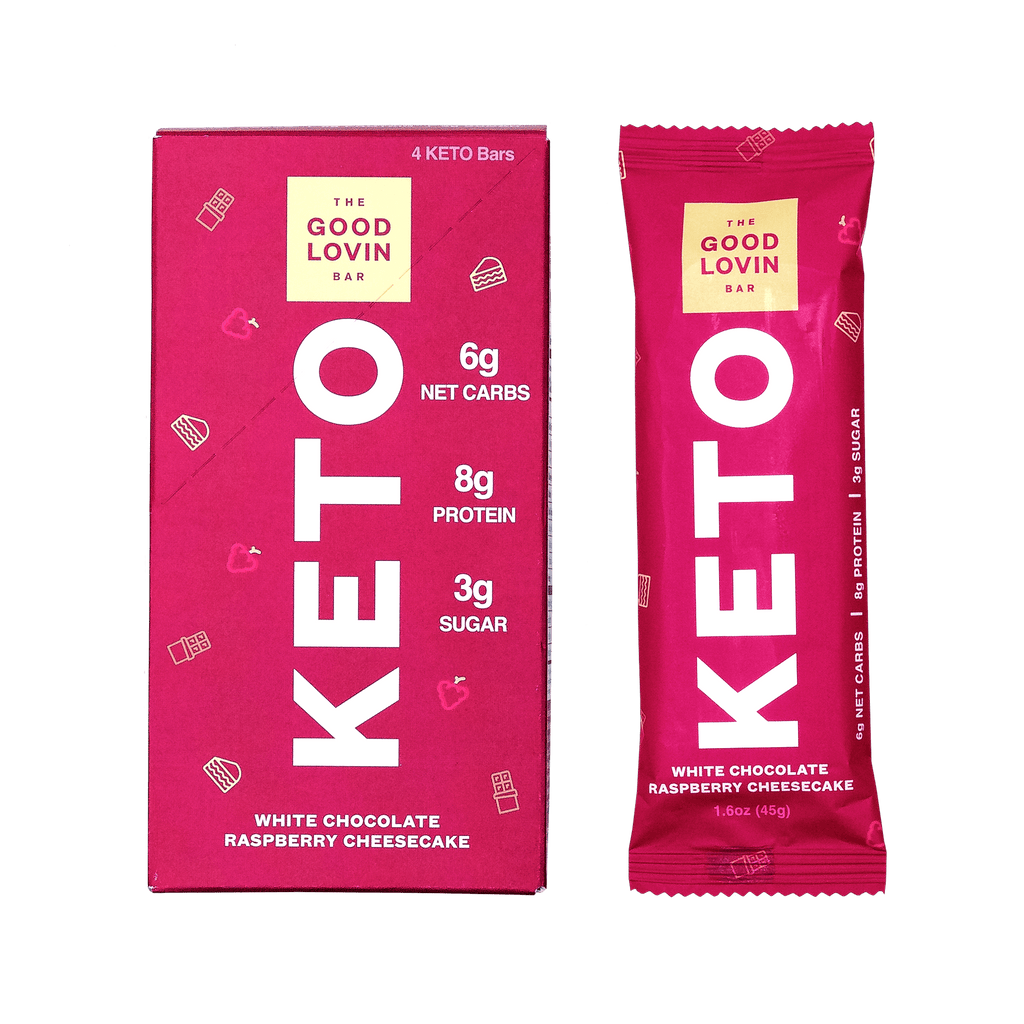 Delicious, White Chocolate Raspberry Cheesecake Flavor Vegan, Real Food, Refrigerated Keto Snack Bar