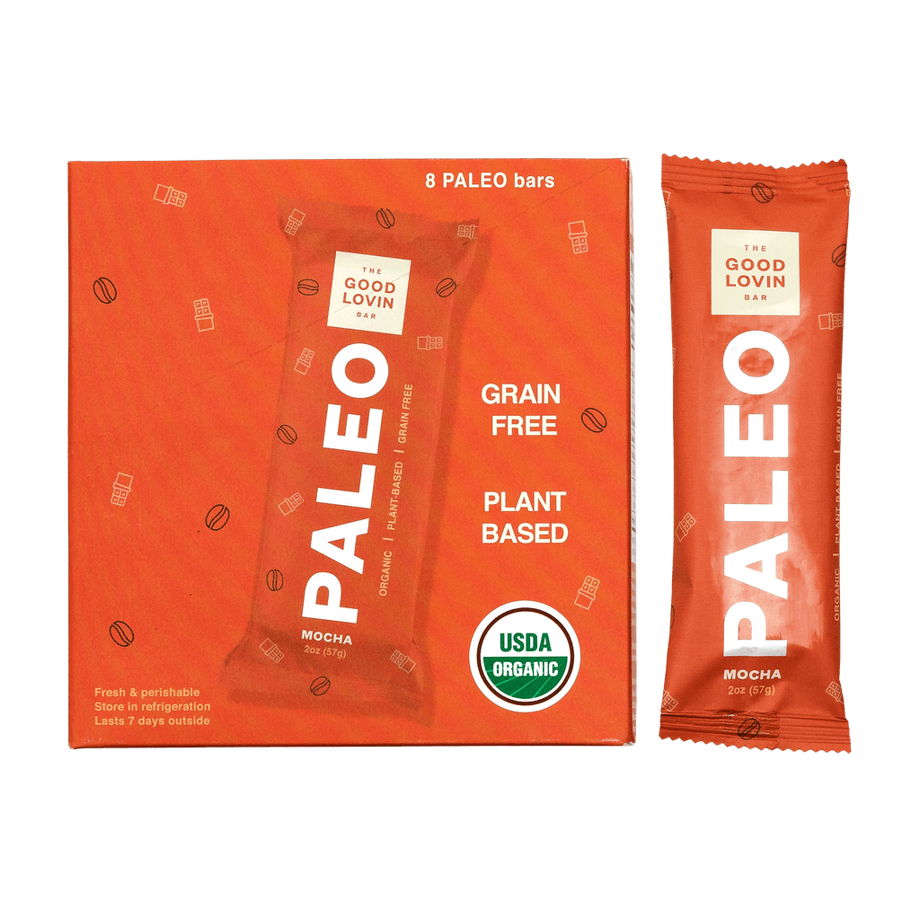 Organic, Mocha Flavor Vegan, Real Food, Refrigerated Paleo Snack Bar