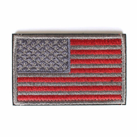 "American Flag Tactical Patch w/ Velcro (2"" x 3"")"