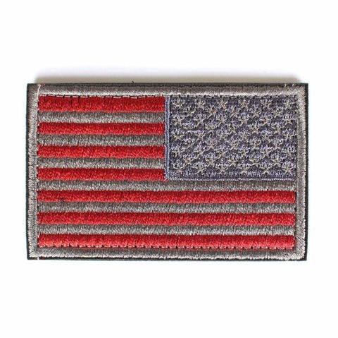 "Reverse American Flag (Right Arm) Tactical Patch w/ Velcro (2"" x 3"")"