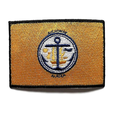 "City of Anchorage, Alaska Flag Sew / Iron-On Patch (2"" x 3"")"