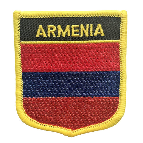 "Armenia Flag Shield Sew / Iron-On Patch (2.75"" x 2.35"")"