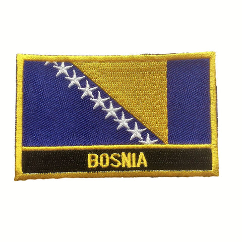 "Bosnia Flag Sew / Iron-On Patch (2"" x 3"")"