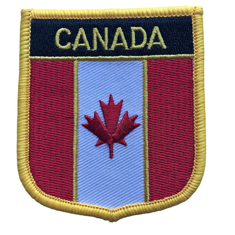 "Canada Flag Shield Sew / Iron-On Patch (2.75"" x 2.35"")"