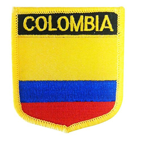 "Colombia Flag Shield Sew / Iron-On Patch (2.75"" x 2.35"")"