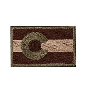 "Colorado State Flag Tactical Patch w/ Velcro (2"" x 3"")"