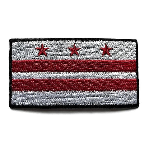 "Washington D.C. Flag Sew / Iron-On Patch (2"" x 3"")"