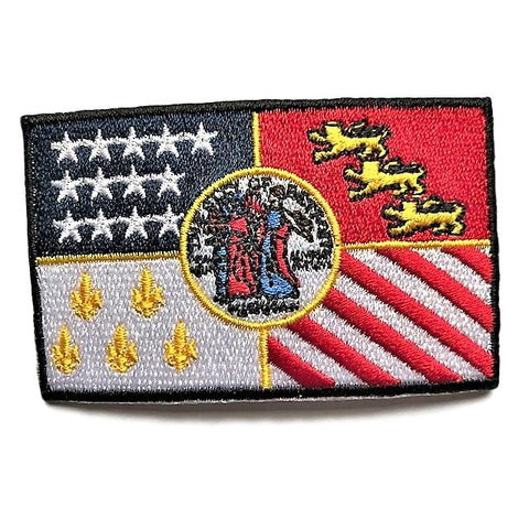 "City of Detroit, Michigan Flag Sew / Iron-On Patch (2"" x 3"")"