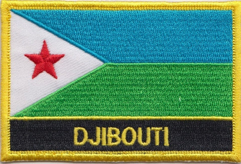 "Djibouti Flag Sew / Iron-On Patch (2"" x 3"")"