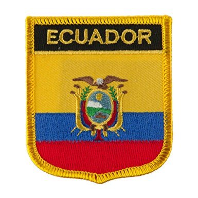 "Ecuador Flag Shield Sew / Iron-On Patch (2.75"" x 2.35"")"