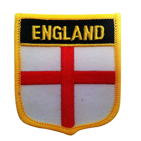 "England Flag Shield Sew / Iron-On Patch (2.75"" x 2.35"")"