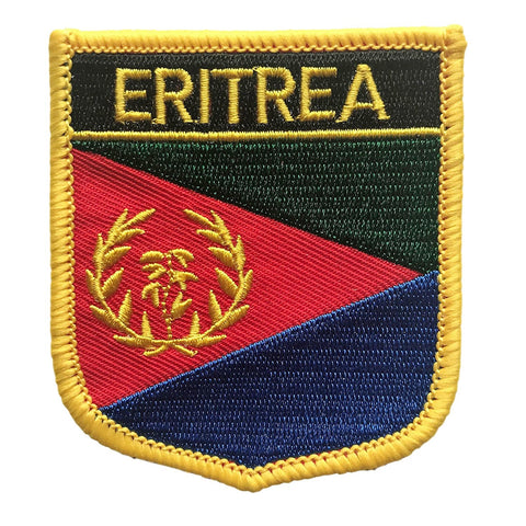 "Eritrea Flag Shield Sew / Iron-On Patch (2.75"" x 2.35"")"