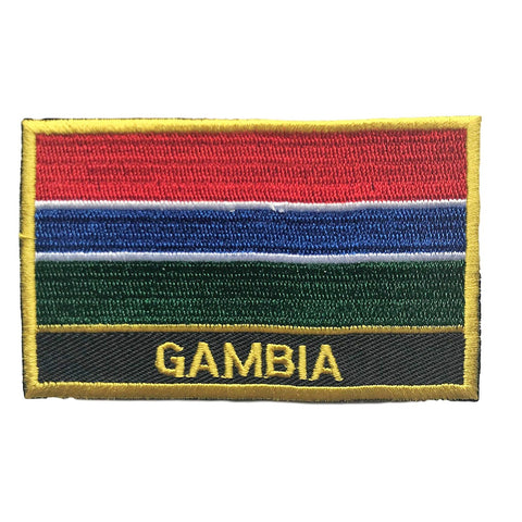 "Gambia Flag Sew / Iron-On Patch (2"" x 3"")"