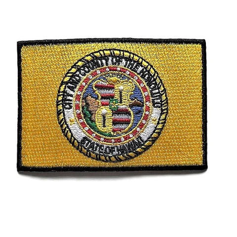 "City of Honolulu, Hawaii Flag Sew / Iron-On Patch (2"" x 3"")"