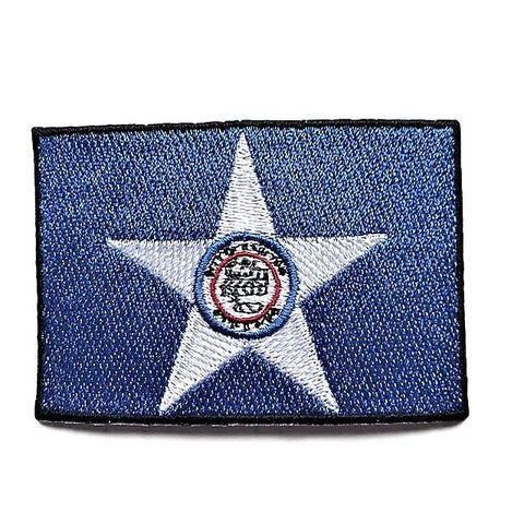 "City of Houston, Texas Flag Sew / Iron-On Patch (2"" x 3"")"
