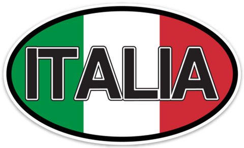 Italia (Italy) Flag Vinyl Decal Euro Oval Sticker