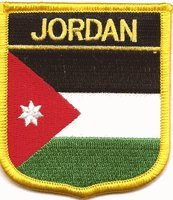 "Jordan Flag Shield Sew / Iron-On Patch (2.75"" x 2.35"")"