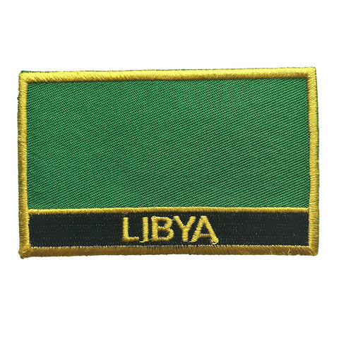 "Libya Flag Sew / Iron-On Patch (2"" x 3"")"