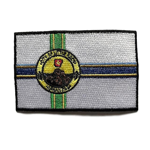 "City of Little Rock, Arkansas Flag Sew / Iron-On Patch (2"" x 3"")"
