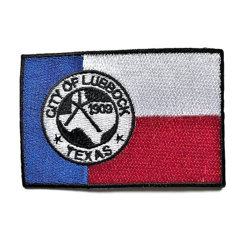 "City of Lubbock, Texas Flag Sew / Iron-On Patch (2"" x 3"")"