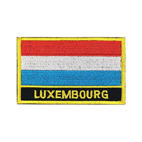 "Luxembourg Flag Sew / Iron-On Patch (2"" x 3"")"