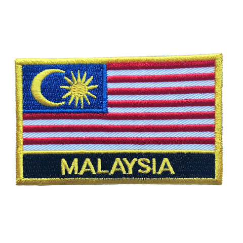 "Malaysia Flag Sew / Iron-On Patch (2"" x 3"")"