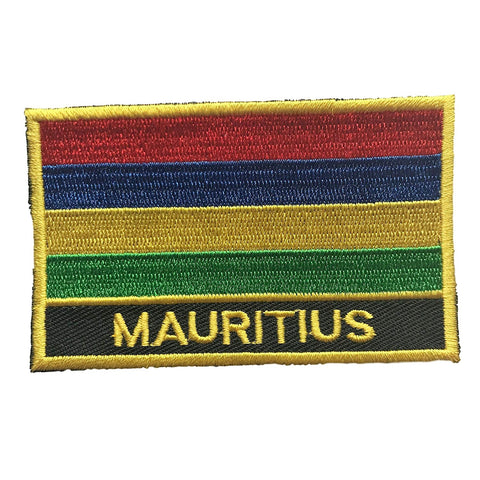 "Mauritius Flag Sew / Iron-On Patch (2"" x 3"")"