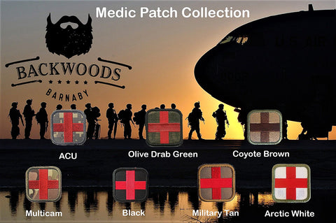 Medic First Aid Cross Morale Patch w  Velcro (2
