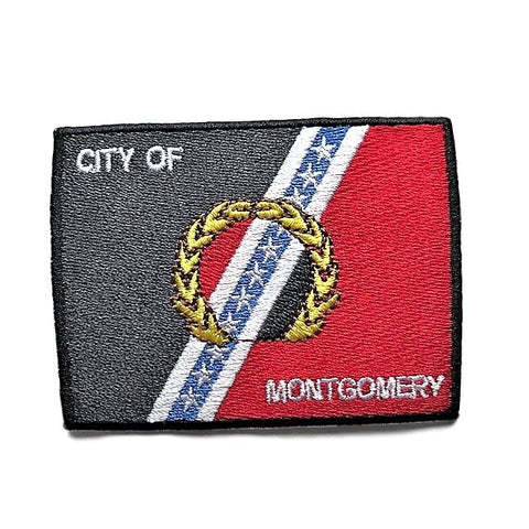 "City of Montgomery, Alabama Flag Sew / Iron-On Patch (2"" x 3"")"