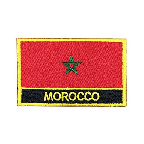 "Morocco Flag Sew / Iron-On Patch (2"" x 3"")"