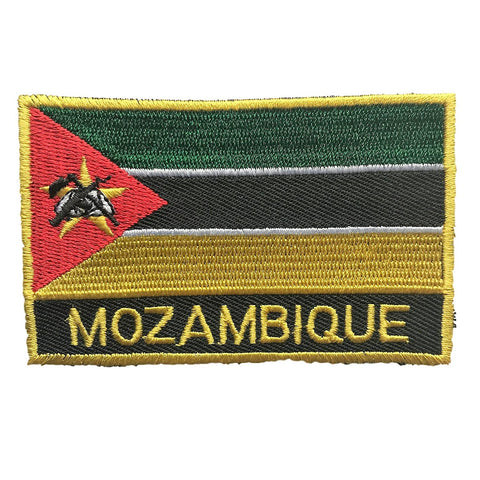 "Mozambique Flag Sew / Iron-On Patch (2"" x 3"")"