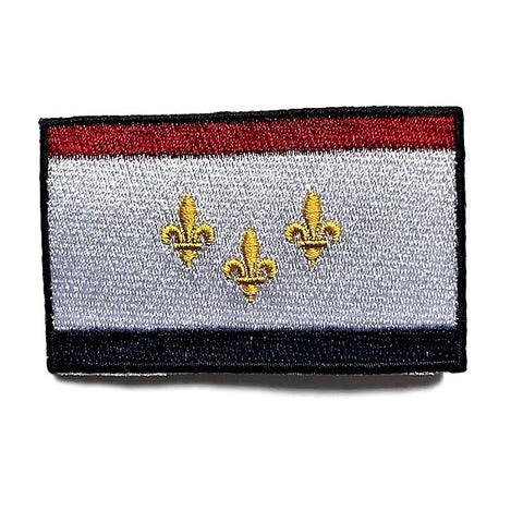 "City of New Orleans, Louisiana Flag Sew / Iron-On Patch (2"" x 3"")"