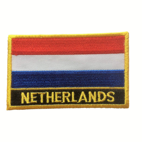 "Netherlands (Holland) Flag Sew / Iron-On Dutch Patch (2"" x 3"")"