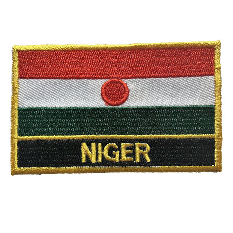 "Niger Flag Sew / Iron-On Patch (2"" x 3"")"