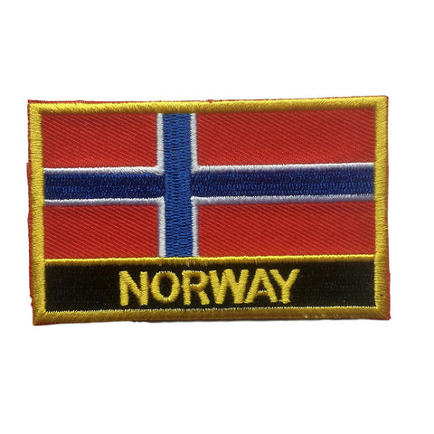 "Norway Flag Sew / Iron-On Patch (2"" x 3"")"