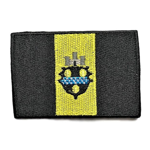 "City of Pittsburgh, Pennsylvania Flag Sew / Iron-On Patch (2"" x 3"")"