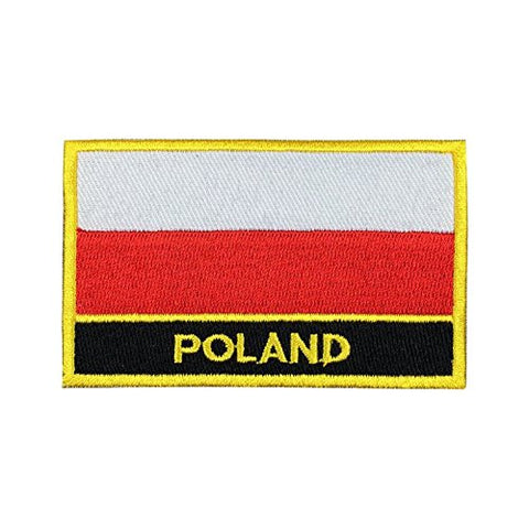 "Poland Flag Sew / Iron-On Patch (2"" x 3"")"