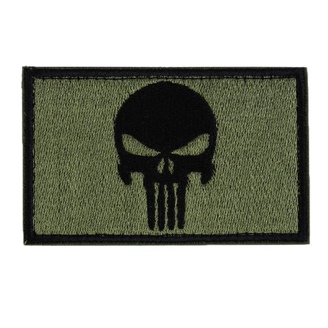 "Punisher Skull Tactical Patch w/ Velcro (2"" x 3"")"