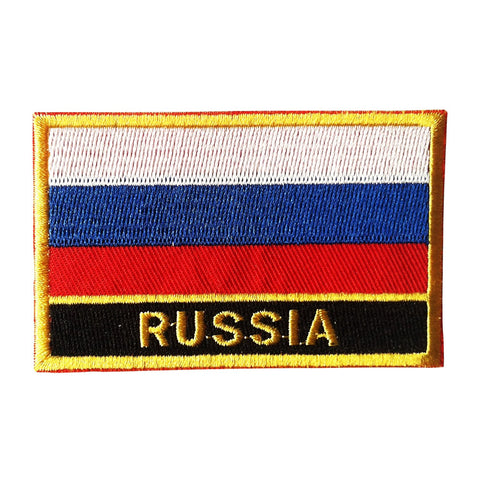 "Russia Flag Sew / Iron-On Patch (2"" x 3"")"