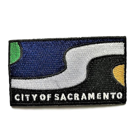 "City of Sacramento, California Flag Sew / Iron-On Patch (2"" x 3"")"