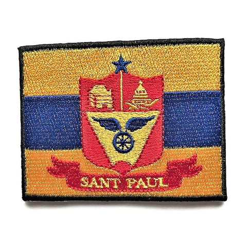 "City of Saint Paul, Minnesota Flag Sew / Iron-On Patch (2"" x 3"")"