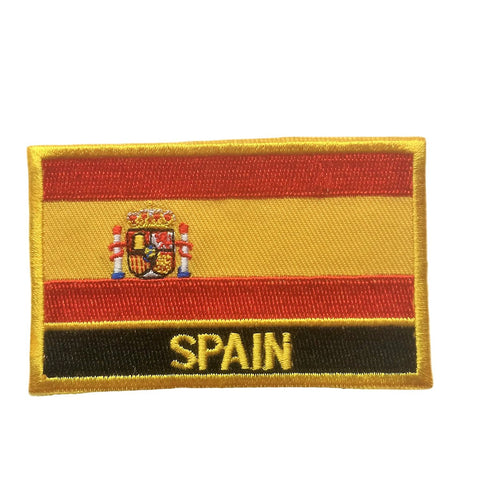 "Spain Flag Sew / Iron-On Patch (2"" x 3"")"