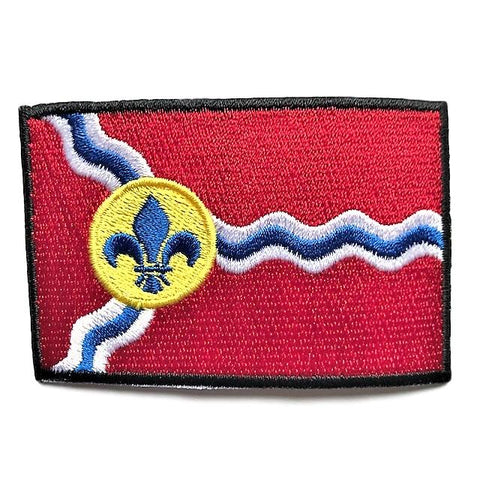"City of Saint Louis, Missouri Flag Sew / Iron-On Patch (2"" x 3"")"