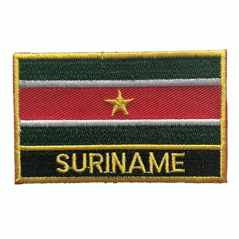 "Suriname Flag Sew / Iron-On Patch (2"" x 3"")"