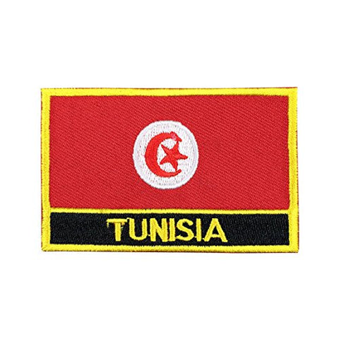 "Tunisia Flag Sew / Iron-On Patch (2"" x 3"")"